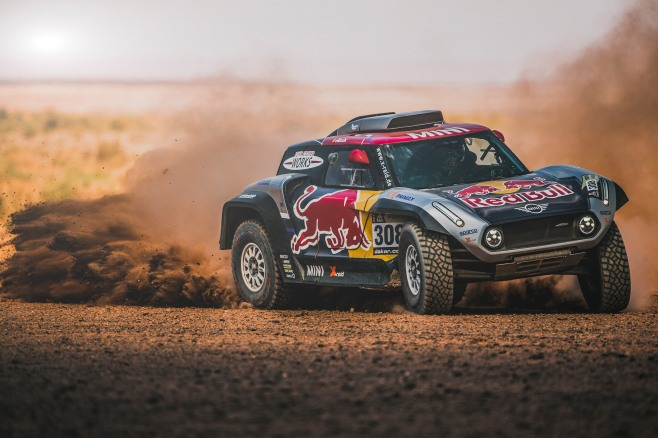 Cyril Despres (FRA) performs aboard the X-raid MINI JCW in Erfoud , Morocco on September 23, 2018 // Flavien Duhamel/Red Bull Content Pool // AP-1X2MUM9X11W11 // Usage for editorial use only // Please go to www.redbullcontentpool.com for further information. //